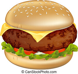 hamburguesa, ilustración
