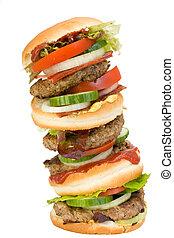 hamburguesa, monstruo