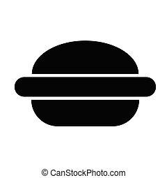 hamburguesa, rápido, hamburguesa, alimento, icon.