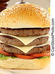 hamburguesa, triple