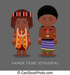 Hamer tribe in traditional costume.
