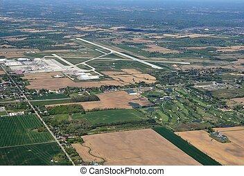 Hamilton Airport aerial