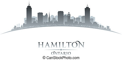 hamilton , ontario , καναδάs , άστυ γραμμή ορίζοντα , silhouette., μικροβιοφορέας , εικόνα