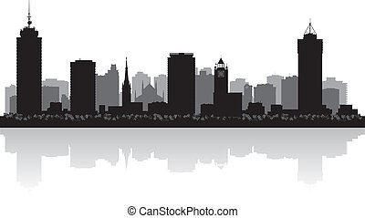 hamilton, skyline, vetorial, cidade, canadá, silueta