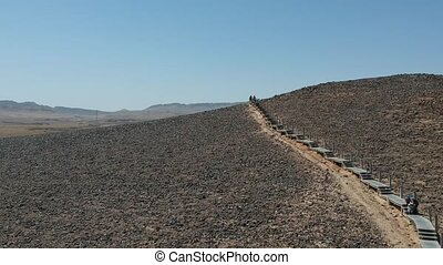 HaMinsara hike path at the bottom of the Ramon crater -...