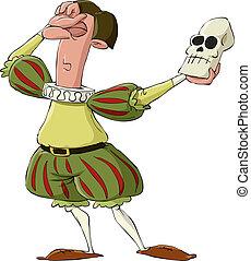 Hamlet on a white background, vector illustration