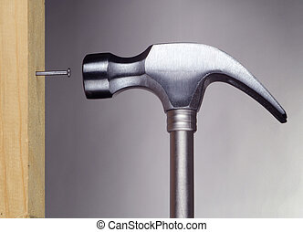 hammer and nail - horizontal image