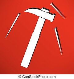 Hammer and nail icon