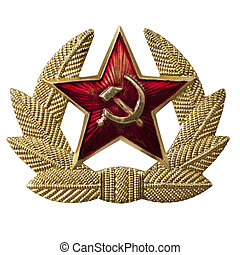 Hammer and Sickle Badge - Russian hammer and sickle badge,...
