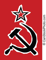 Hammer and Sickle Grunge