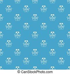 Hammer blacksmith pattern vector seamless blue