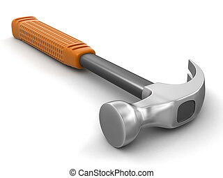 Hammer (clipping path included) - Hammer. Image with...