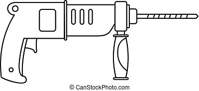 Hammer drill icon, outline style