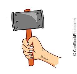 hammer, halten hand