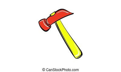 Hammer icon animation best on white background for any design