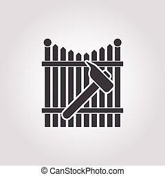 hammer icon on white background