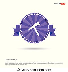 hammer Icon - Purple Ribbon banner