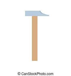 Hammer icon vector illustration isolated tool equipment construction carpentry hardware work