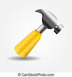 Hammer icon vector illustration
