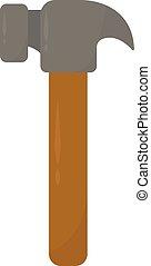 Hammer, illustration, vector on white background.