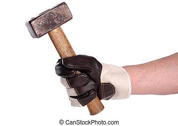 Stonemason's hammer  Chisel of a stonemason's hammer on a