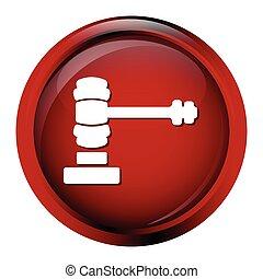 Hammer judge icon, auction icon