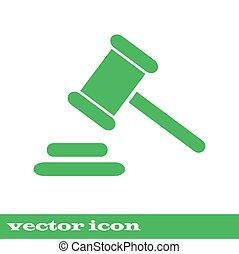 hammer., légal, juge, marteau, icon., droit & loi, marteau