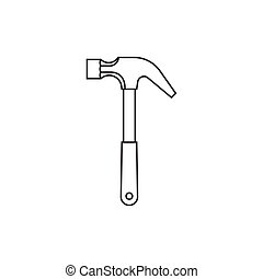 Hammer outline icon
