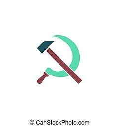 Hammer sickle Icon Vector
