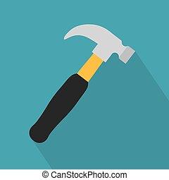 hammer tool icon- vector illustration
