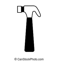 hammer tool isolated icon