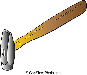 Hammer vector flat icon. Construction working tool item. Flat logo Hammer isolated on white background.