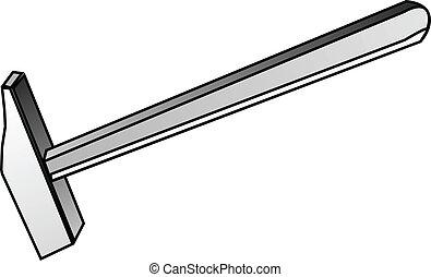 hammer, werkzeug, baugewerbe, -