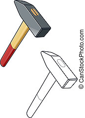 Hammer. Working tool. vector illustration isolated on white ...