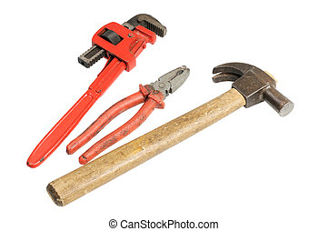 Hammer, wrench, pliers