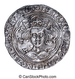 Hammered Silver Groat of Henry VI from 1430-1431, Obverse - ...