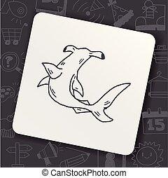 Hammerhead shark doodle
