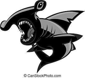 Hammerhead shark - hammerhead shark on the attack!