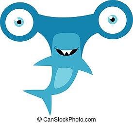 Hammerhead Shark Mascot Vector