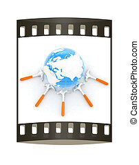 Hammers and earth. The film strip