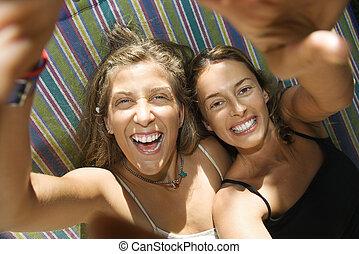hammock., לצחוק, נשים