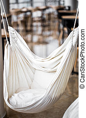 hammock chair in a cafe