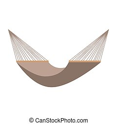 Hammock icon on a white background. Vector illustration