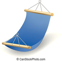Hammock icon, realistic style