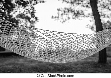 Rope hammock close-up
