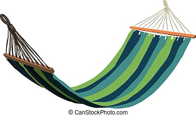 hammock isolated realistic vector illustration