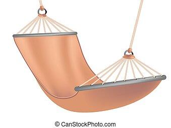 hammock on white