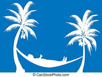 hammock with coconuts