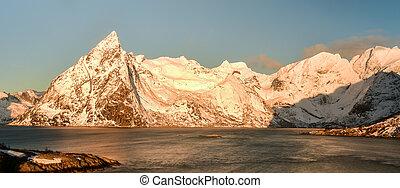 Hamnoy - Lofoten Island, Norway - Fishing hut (rorbu) in the...