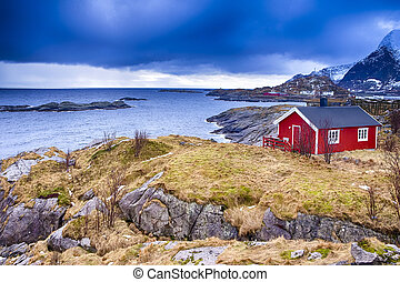 Hamnoy Village at Lofoten Islands in Norway.